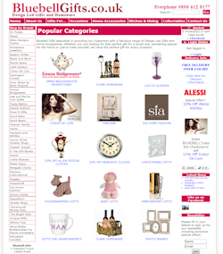 Bluebell Gifts Web Site